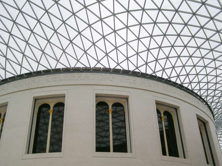 foster: LONDON, UK - CIRCA MARCH, 2008: The Great Court at the British Museum designed by architect Lord Norman Foster opened in year 2000
