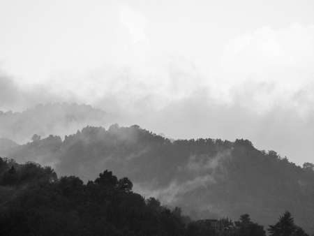 sublime: Sublime awe inspiring nature in stormy weather in black and white