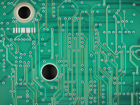 printed: Detail of an electronic printed circuit board