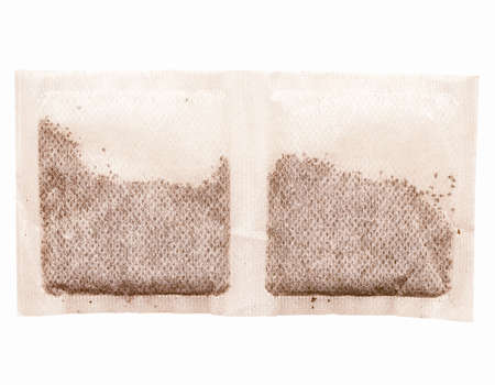 english breakfast tea: Vintage looking A picture of English Breakfast Tea bags Stock Photo