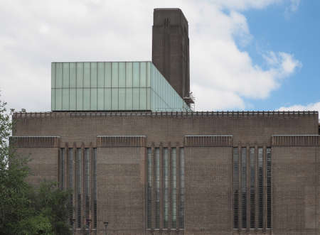 south london: Tate Modern art gallery in South Bank powerstation in London, UK