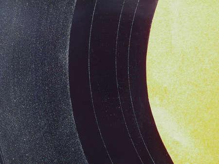 the medium: Detail of Vinyl record vintage analog music recording medium Stock Photo