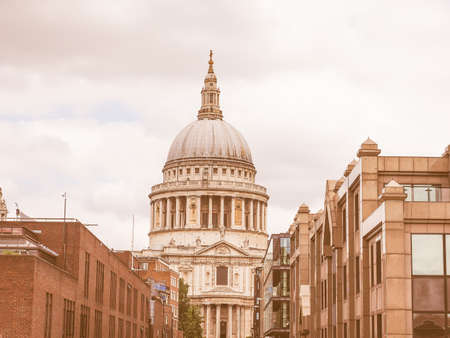 paul: Vintage looking St Paul Cathedral church in London, UK