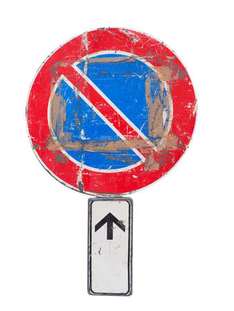 no  parking: No parking traffic sign isolated over white background