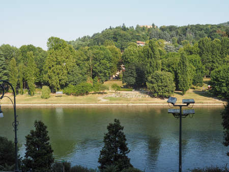 po: Fiume Po meaning River Po in Turin, Italy