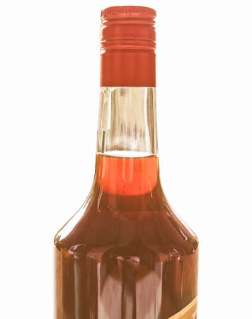 alcoholic drink: Vintage looking Alcoholic drink bottle picture