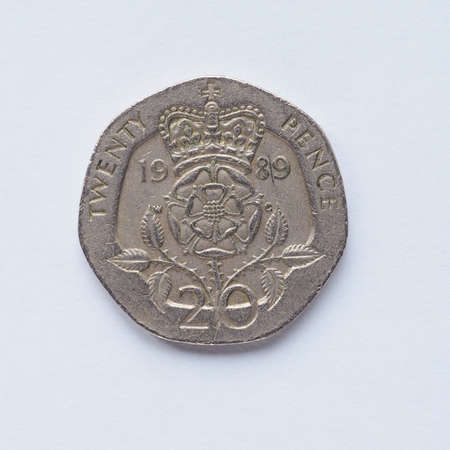 pence: Currency of the United Kingdom 20 pence coin Stock Photo