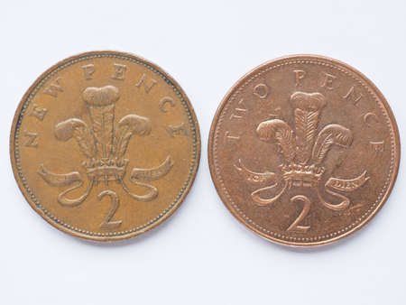 pence: Currency of the United Kingdom 2 pence coin