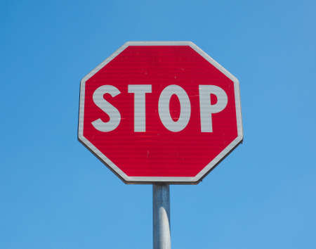 regulatory: Regulatory signs, Stop traffic sign over the blue sky