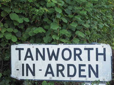 arden: Town sign in Tanworth in Arden, UK