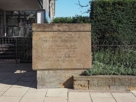 birthplace: STRATFORD UPON AVON, UK - SEPTEMBER 26, 2015: Shakespeare centre at William Shakespeare birthplace