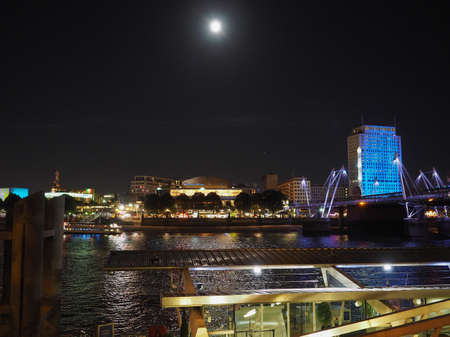 venue: LONDON, UK - SEPTEMBER 27, 2015: The Royal Festival Hall built as part of the Festival of Britain national celebrations in 1951 is still in use as a major music and entertainment venue