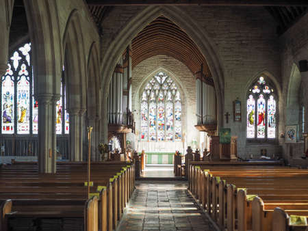 arden: TANWORTH IN ARDEN, UK - SEPTEMBER 25, 2015: Parish Church of St Mary Magdalene interior view