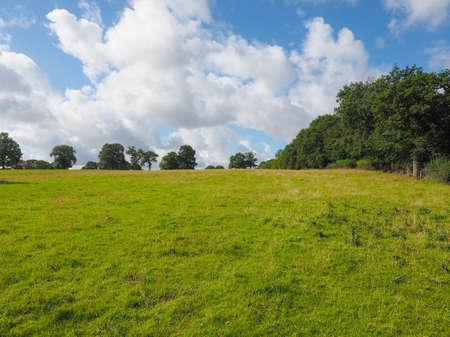 paisaje rural: Campo Ingl�s en Tanworth in Arden Warwickshire, Reino Unido Foto de archivo