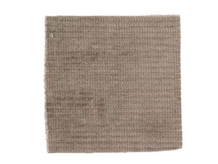 olive green: Olive green fabric swatch over white background