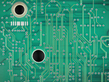 etched: Detail of an electronic printed circuit board