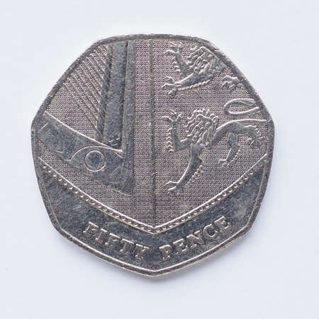 pence: Currency of the United Kingdom 50 pence coin