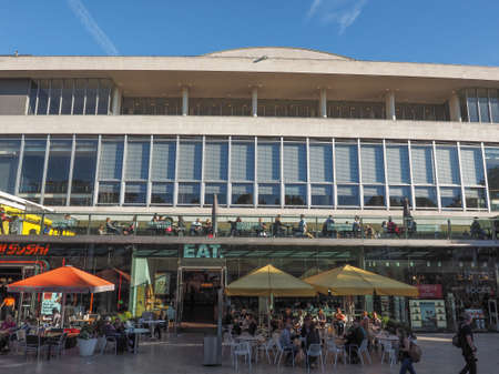 music venue: LONDON, UK - SEPTEMBER 28, 2015: The Royal Festival Hall built as part of the Festival of Britain national celebrations in 1951 is still in use as a major music and entertainment venue