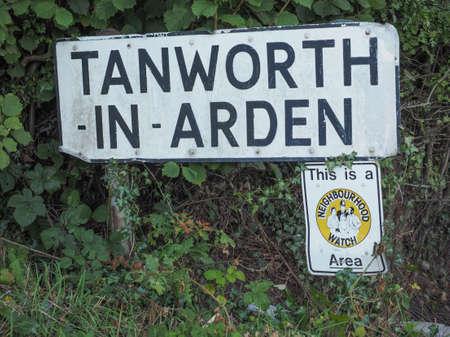 arden: Town sign in Tanworth in Arden, UK