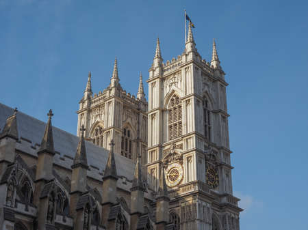 the abbey: Westminster Abbey church in London, UK