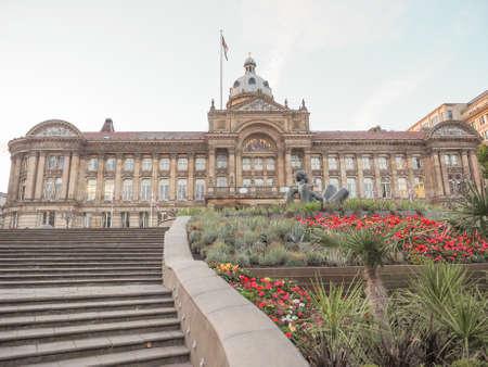 council: City Council building in Birmingham, UK