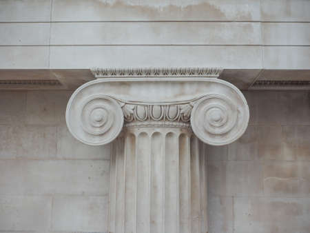 ionic: Capital of the ancient Greek Ionic order
