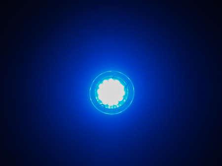 lamp light: Blue lit LED Light Emitting Diod bulb