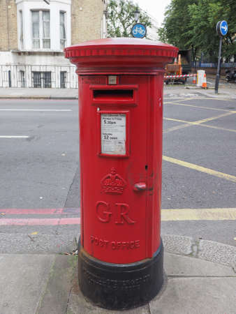 royal mail: LONDON, UK - SEPTEMBER 27, 2015: Royal Mail mailbox for mail collection
