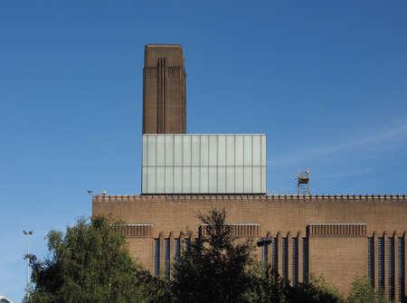 powerstation: LONDON, UK - SEPTEMBER 28, 2015: Tate Modern art gallery in South Bank powerstation Editorial