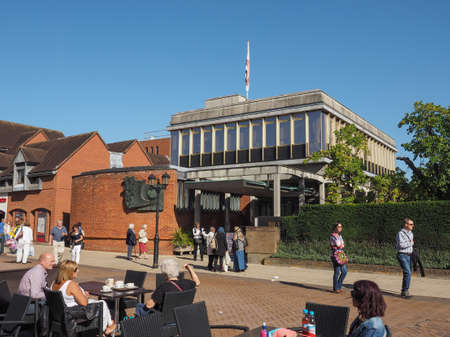 william: STRATFORD UPON AVON, UK - SEPTEMBER 26, 2015: Shakespeare centre at William Shakespeare birthplace