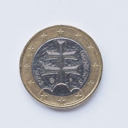 Währung Der Europe 1 Euro Münze Aus Frankreich Lizenzfreie Fotos