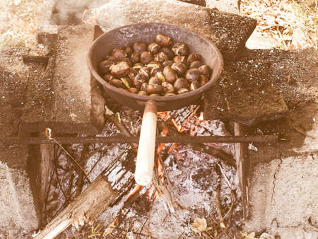 broiling: Vintage looking Barbecue BBQ picture Stock Photo