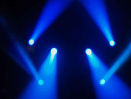 pallino: Blue spot lights at a concert Archivio Fotografico