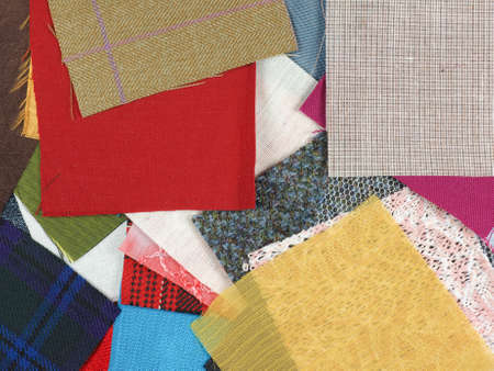 swatches: Many fabric swatches useful as a background Stock Photo