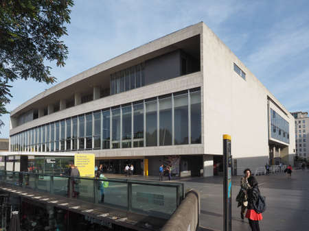 venue: LONDON, UK - SEPTEMBER 29, 2015: The Royal Festival Hall built as part of the Festival of Britain national celebrations in 1951 is still in use as a major music and entertainment venue Editorial