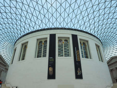 foster: LONDON, UK - SEPTEMBER 28, 2015: The Great Court at the British Museum designed by architect Lord Norman Foster opened in year 2000