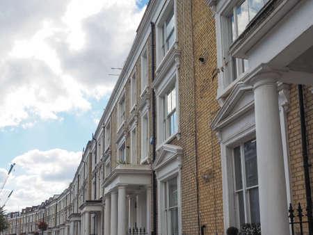 houses row: Row of Terraced Houses in London, UK