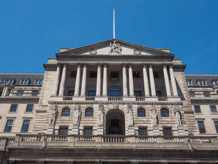 historical building: The historical building of the Bank of England in London, UK