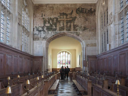guild: STRATFORD UPON AVON, UK - SEPTEMBER 26, 2015: Guild Chapel founded in 1269 by the Guild of the Holy Cross Editorial