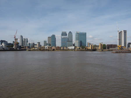 business centre: LONDON, UK - SEPTEMBER 29, 2015: The Canary Wharf business centre is the largest business district in the United Kingdom
