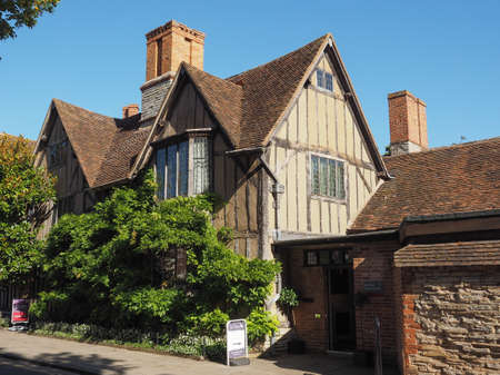 croft: STRATFORD UPON AVON, UK - SEPTEMBER 26, 2015: Halls Croft is the house of Shakespeare sister