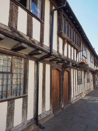 birthplace: STRATFORD UPON AVON, UK - SEPTEMBER 26, 2015: View of the city of Stratford birthplace of Shakespeare Editorial