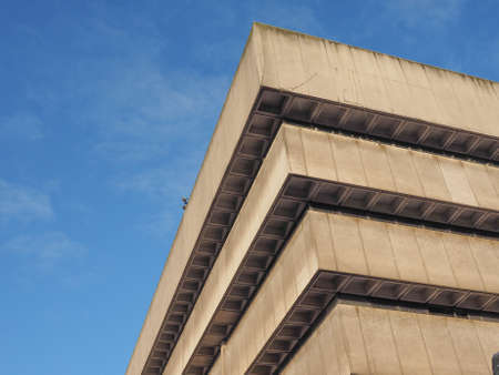 birmingham: BIRMINGHAM, UK - SEPTEMBER 25, 2015: Birmingham Central Library iconic masterpiece of New Brutalism designed by John Madin in 1974 is now threated of demolition