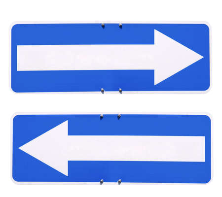 Blank direction arrow sign with copy space, type your own text Stock Photo