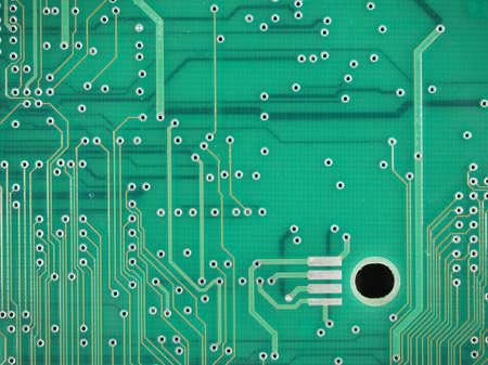 printed circuit: Detail of an electronic printed circuit board