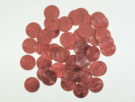 penny: One cent wheat penny coin currency of the United States Stock Photo