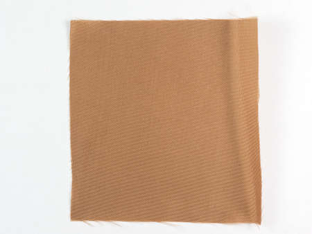 swatch: Brown fabric swatch over white background