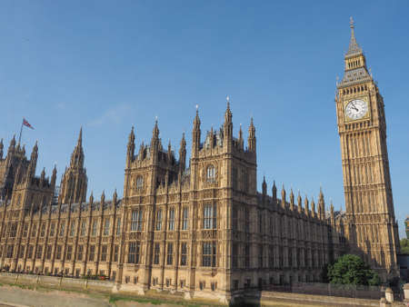 houses of parliament: Houses of Parliament aka Westminster Palace in London, UK