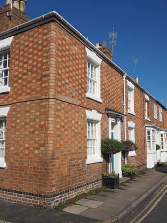 townhouse: A row of typically British terraced houses aka townhouse Stock Photo