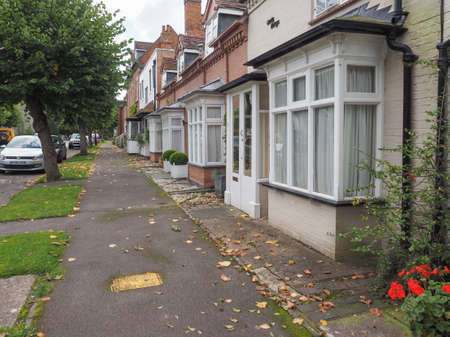 arden: TANWORTH IN ARDEN, UK - CIRCA SEPTEMBER 2015: A row of typically British terraced houses aka townhouses